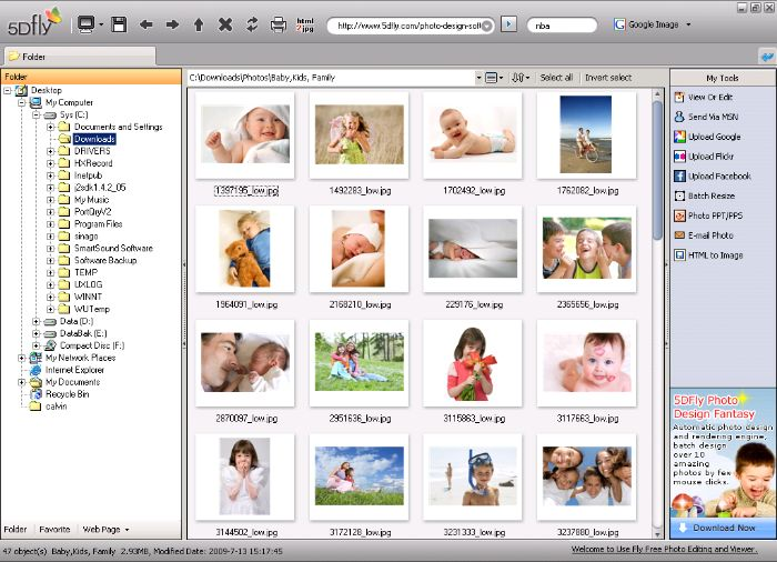 FLY FREE PHOTO EDITING & VIEWER SOFTWARE screenshot