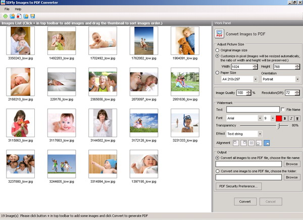 A batch-processing images to PDF converter